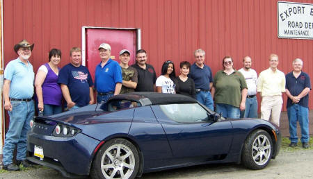 Members of Three Rivers EVA by Tesla Roadster